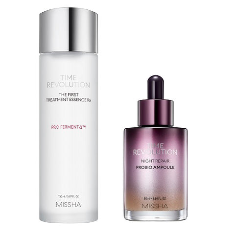 MISSHA Time Revolution The First Treatment Essence RX (150ml) + Night Repair Probio Ampoule (50ml)