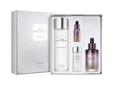 MISSHA Time Revolution Night Repair Best Seller Set (Night Repair Probio Ampoule + The First Treatment Essence RX) (50ml+10ml, 150ml+30ml)