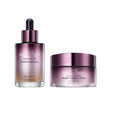MISSHA Time Revolution Night Repair Probio Ampoule (50ml) + Cream (50ml)