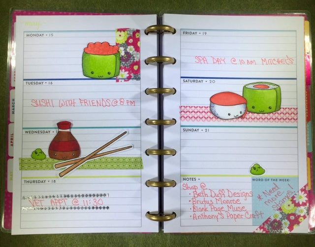 Roll With Me Planner Layout