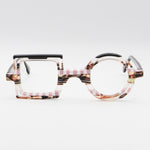 Square and Round 3075 La Bleu Multi-Color Pink Glasses