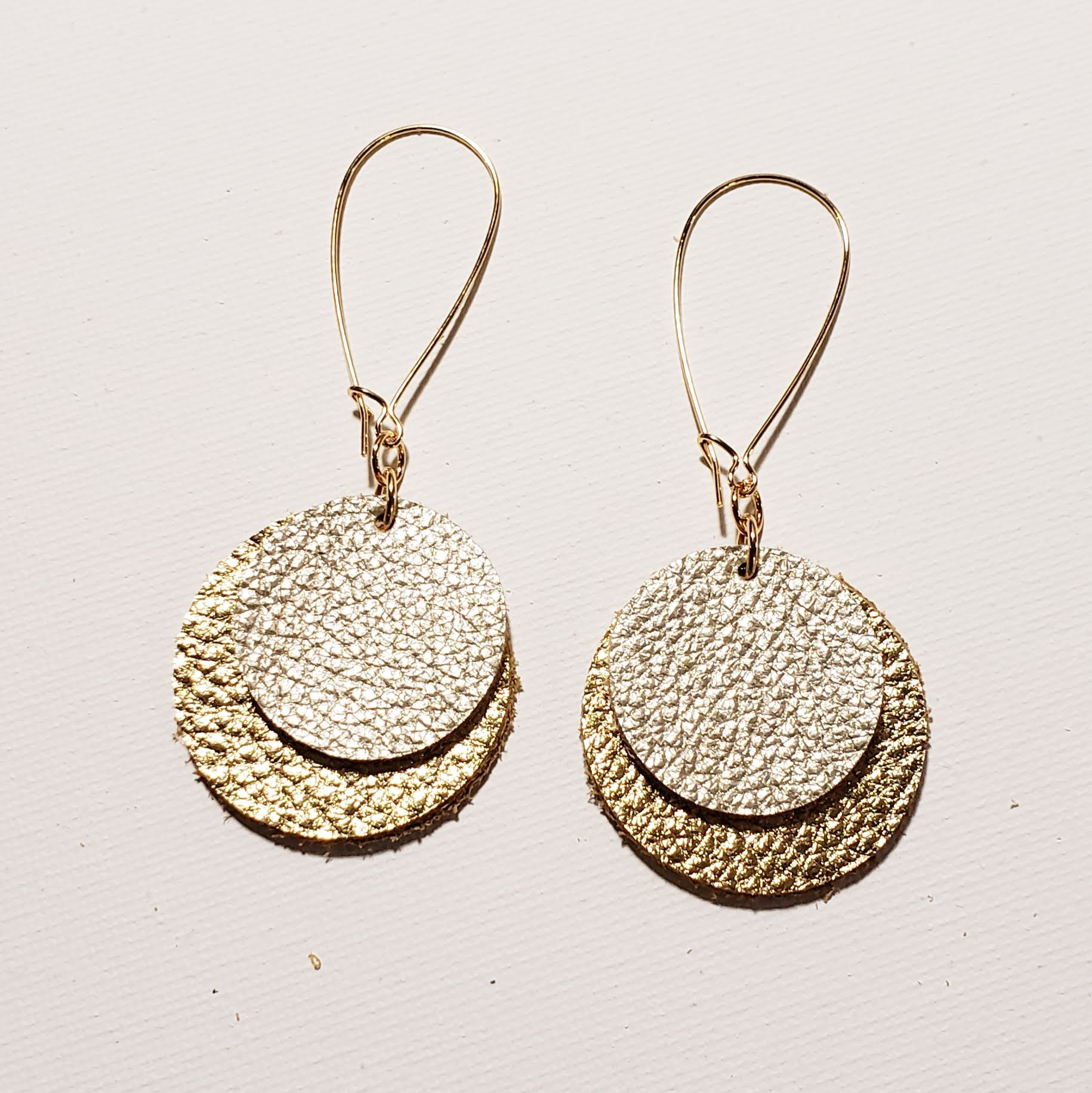 Meghan Markle Earrings / Gold Earrings / Leather Earrings / Drop Earrings / Disc Earrings / Duchess