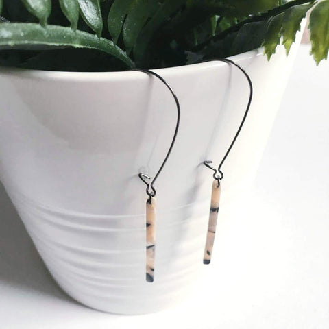 Minimal Acrylic Bar Earrings / Simple Bar Earrings / Dainty Jewelry