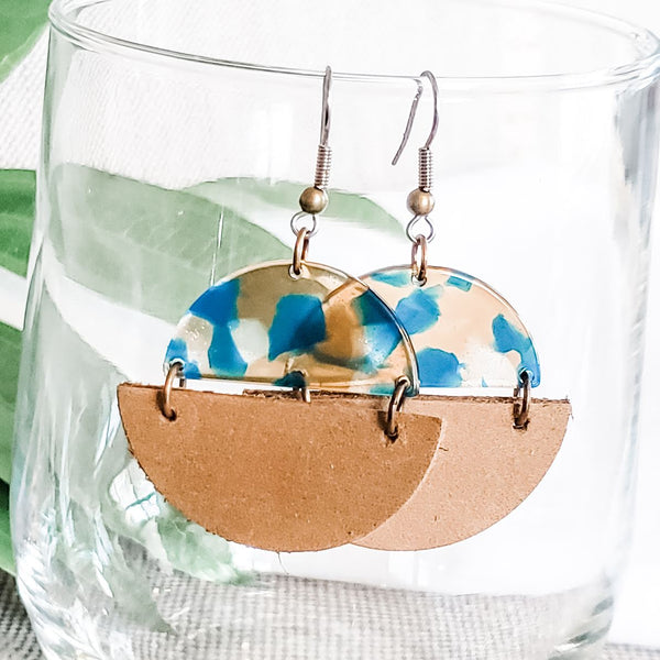 Toilet Paper Roll Earrings, Loo Roll, Leather Earrings