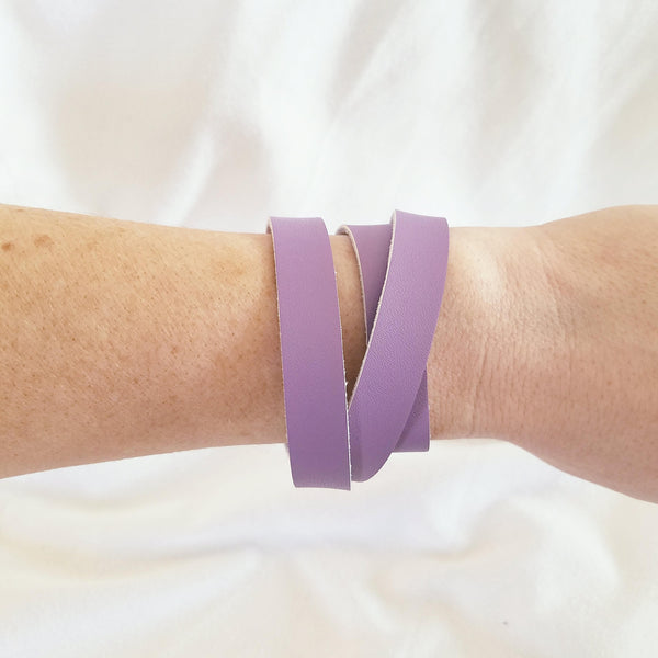 Lilac Leather Wrap Bracelet / Joanna Gaines Style / Fixer Upper / Magnolia Market