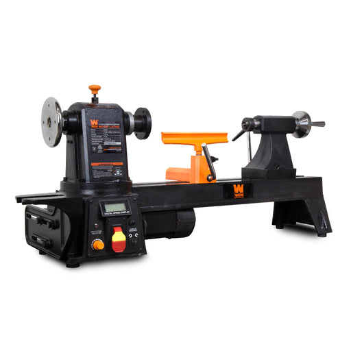 WEN 34027 12-Inch by 16-Inch Variable Speed Multi-Directional Cast Iron Wood Lathe with 16-Inch Capacity Bowl-Turning Back Plate
