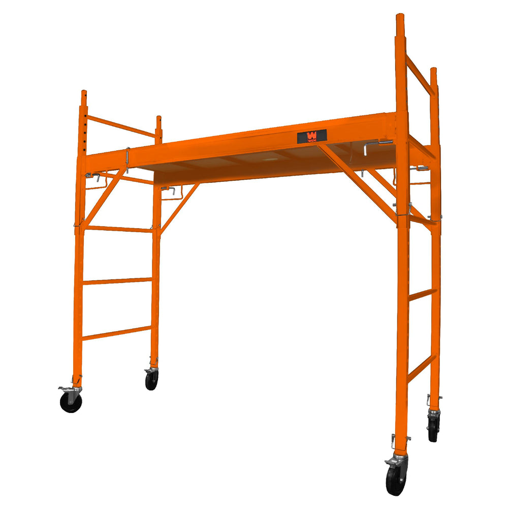 WEN 31110 Baker-Style 6.25 ft. Multi-Purpose 1000-Pound-Capacity Rolling Steel Scaffolding