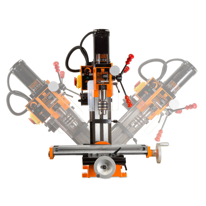 WEN 33013 4.5A Variable Speed Single Phase Compact Benchtop Metal Milling Machine with R8 Taper
