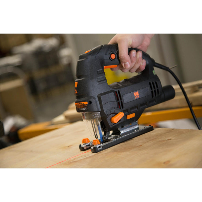 WEN 33606 6.6-Amp Variable Speed Orbital Jig Saw with Laser and LED Light