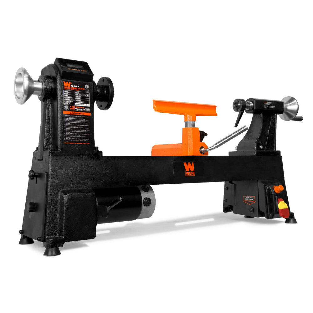 WEN 34018 12-Inch by 18-Inch Variable Speed Cast Iron Wood Lathe