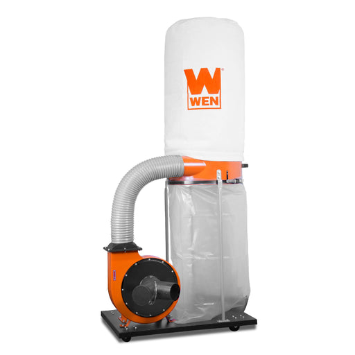 WEN 3403 1,500 CFM 16-Amp 5-Micron Woodworking Dust Collector with 50-Gallon Collection Bag and Mobile Base