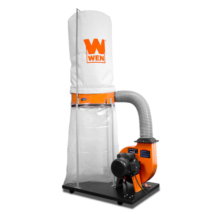 WEN R3403 1,500 CFM 16-Amp 5-Micron Woodworking Dust Collector with 50-Gallon Collection Bag and Mobile Base (Manufacturer Refurbished)