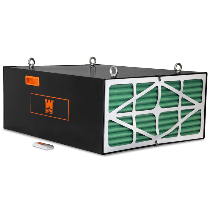 WEN 3415T 3-Speed Remote-Controlled Industrial-Strength Air Filtration System (556/702/1044 CFM)