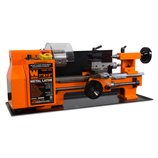 WEN 3455 Variable Speed 7 by 12 Inch Two-Direction Benchtop Metal Lathe