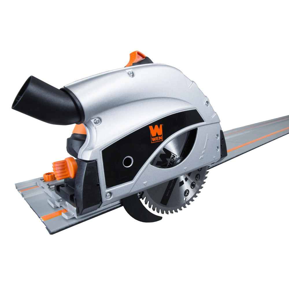 WEN 36055 9-Amp Plunge Cut Circular Track Saw with Two 27.5-Inch Tracks