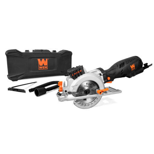 WEN 3625 5-Amp 4-1/2-Inch Beveling Compact Circular Saw with Laser and Carrying Case