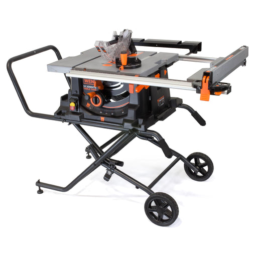 WEN 3720 15 Amp 10-Inch Job Site Table Saw with Rolling Stand