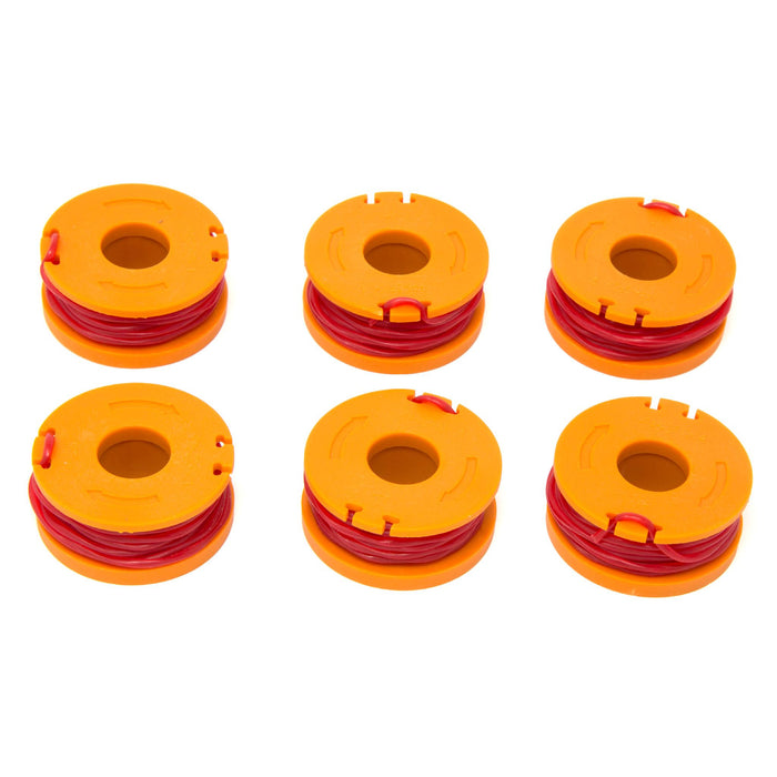 WEN 40413ST-6 String Trimmer Replacement Spool with 9.5 Feet of .065 Line, Six-Pack