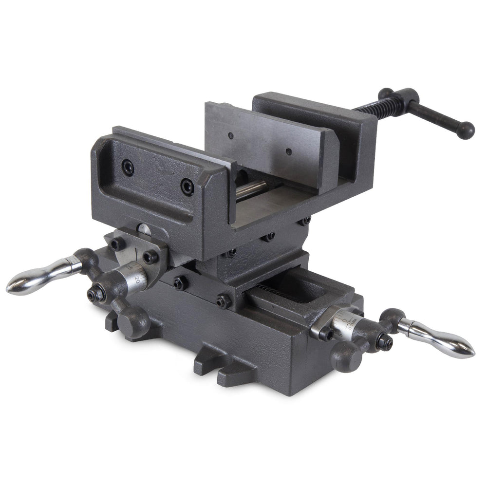 WEN 414CV 4.25-Inch Compound Cross Slide Industrial Strength Benchtop and Drill Press Vise