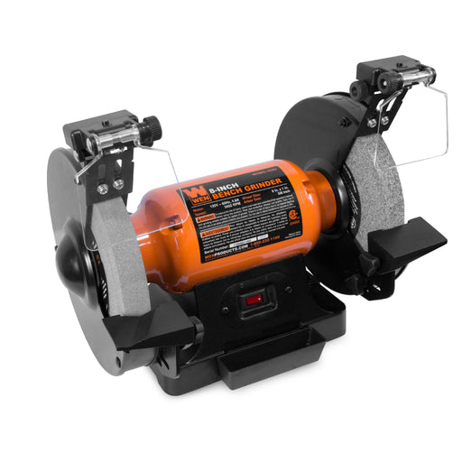 WEN 4282 4.8-Amp 8-Inch Bench Grinder with LED Work Lights and Quenching Tray