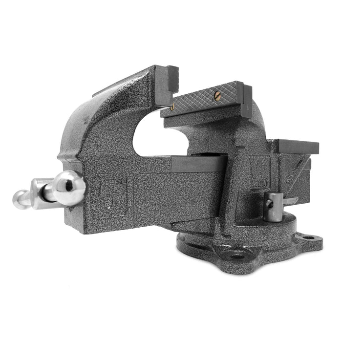 WEN 455BV 5-Inch Heavy Duty Cast Iron Bench Vise with Swivel Base