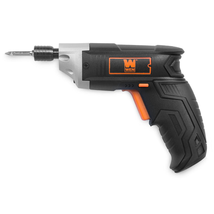 WEN 49103 3.6V Lithium-Ion Cordless Electric Screwdriver with Bits and Belt Holster