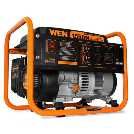 WEN 56155 4-Stroke 98cc 1550-Watt Portable Power Generator, CARB Compliant