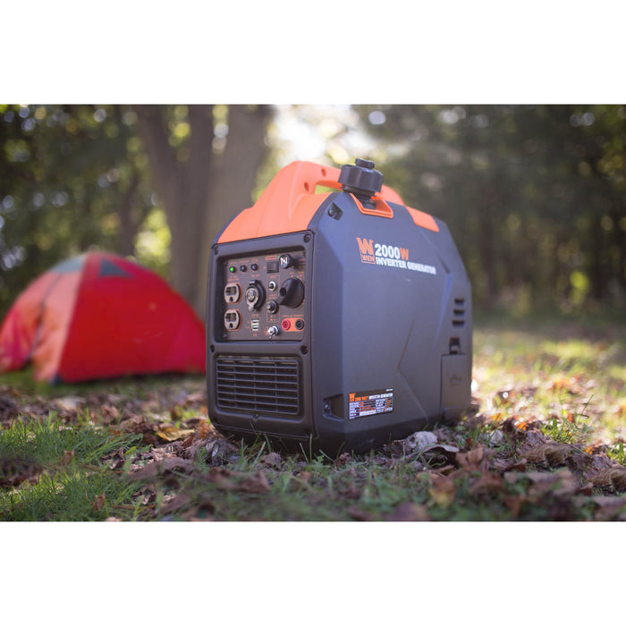 WEN 56203i Super Quiet 2000-Watt Portable Inverter Generator with Fuel Shut Off, CARB Compliant