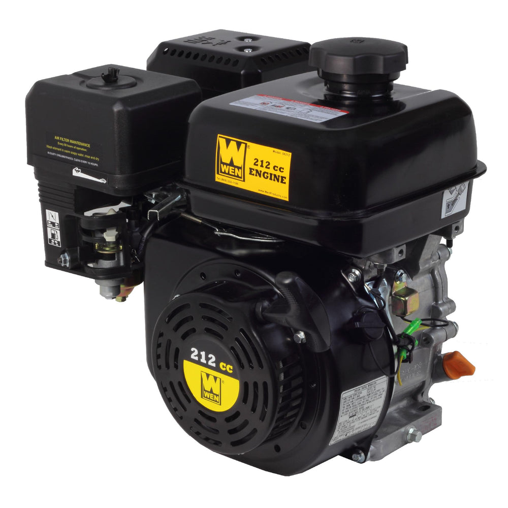 WEN 56212 212 cc 7 HP OHV Horizontal Shaft Gas Engine - CARB
