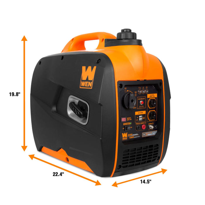 WEN 56225i Super Quiet 2250-Watt Portable Inverter Generator with Fuel Shut-Off