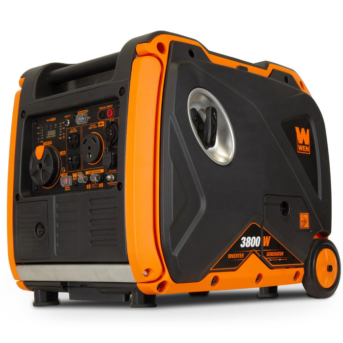WEN 56380i Super Quiet 3800-Watt RV-Ready Portable Inverter Generator with Fuel Shut-Off and Electric Start
