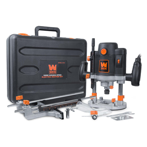 WEN 6033 15-Amp Variable Speed Plunge Woodworking Router Kit with Carrying Case and Edge Guide