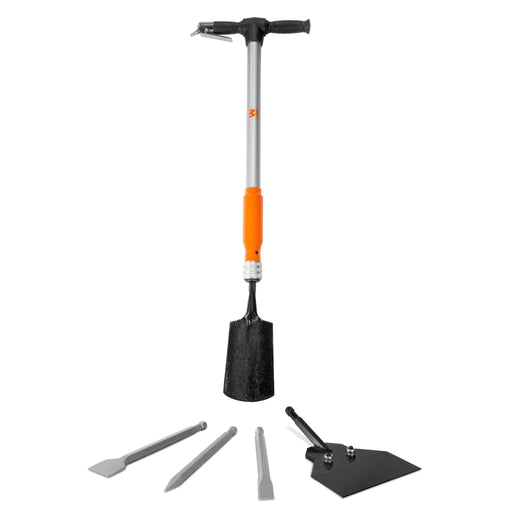 WEN 61635 5-in-1 Pneumatic Multi-Function Tool with Scraper, Shovel, and Chisel Attachments