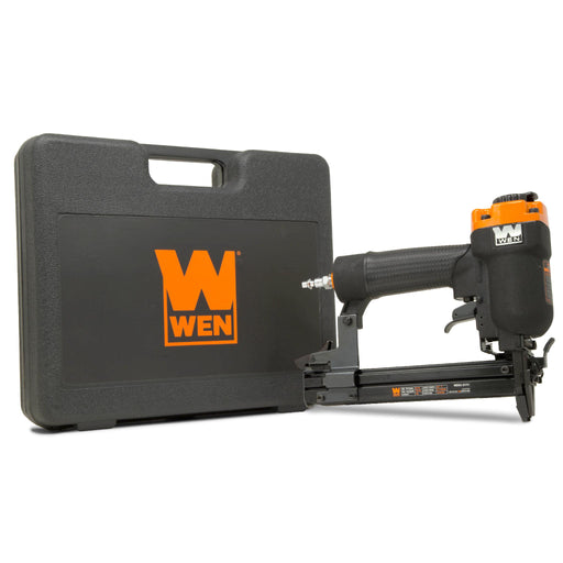 WEN 61711 18-Gauge 3/8-Inch to 1-Inch Air-Powered 1/4-Inch Narrow Crown Pneumatic Stapler