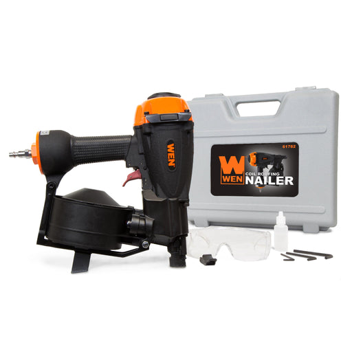 WEN 61782 3/4 in. to 1-3/4 in. Pneumatic Coil Roofing Nailer