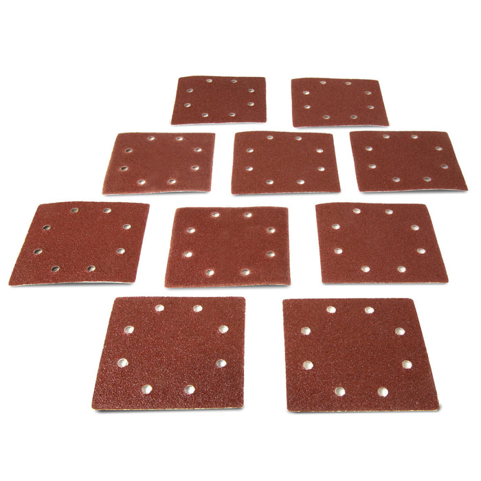 WEN 6304SP120 1/4-Sheet Sander 120-Grit Hook-and-Loop Sandpaper, 10-Pack