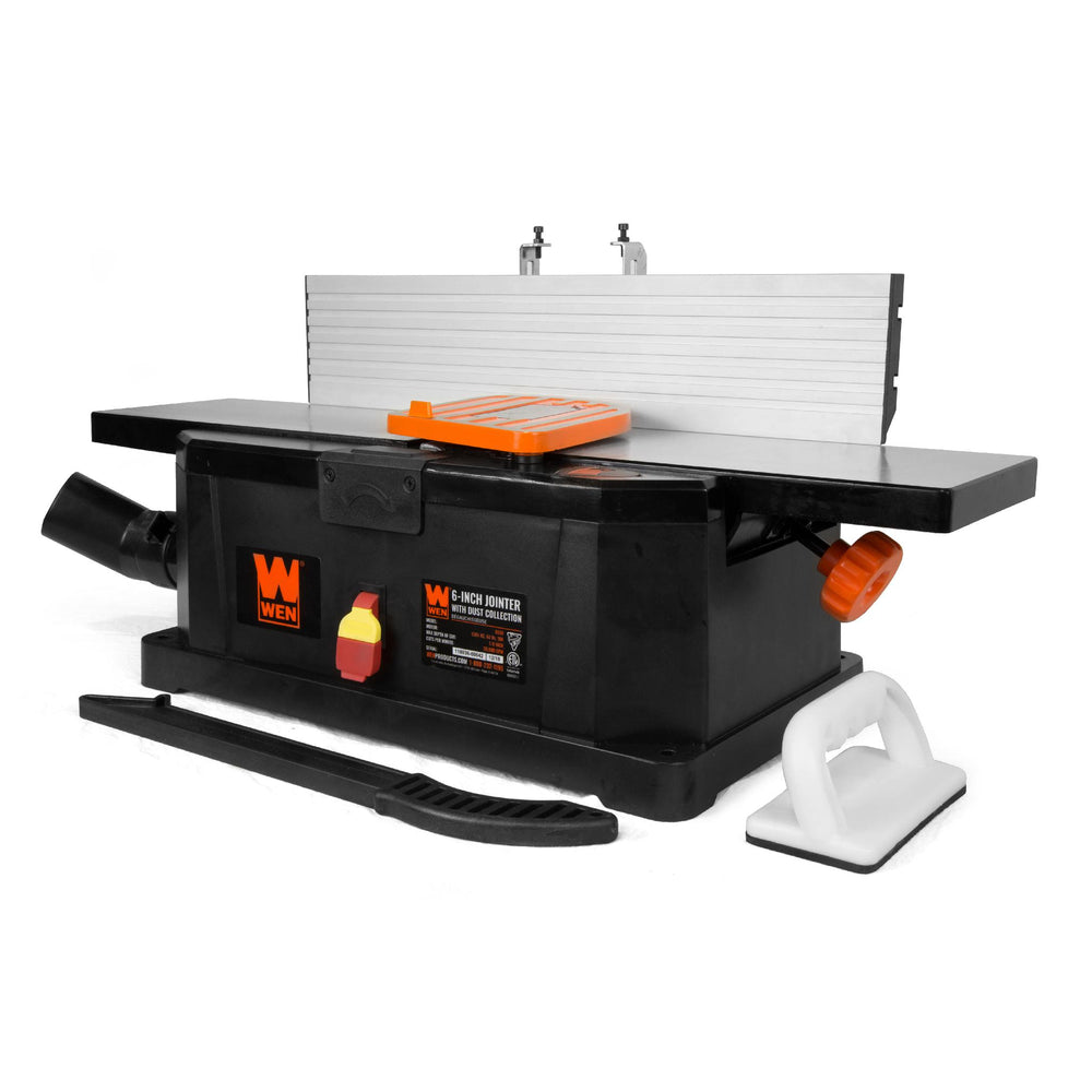 WEN R6559 6-Inch 10-Amp Corded Benchtop Jointer with Filter Bag and Depth Scale (Manufacturer Refurbished)