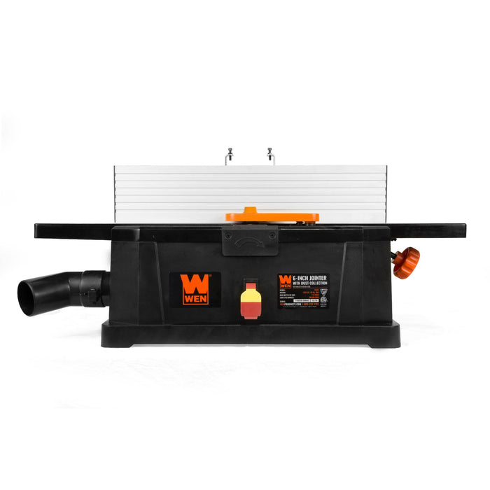 WEN 6559 6-Inch 10-Amp Corded Benchtop Jointer with Filter Bag and Depth Scale
