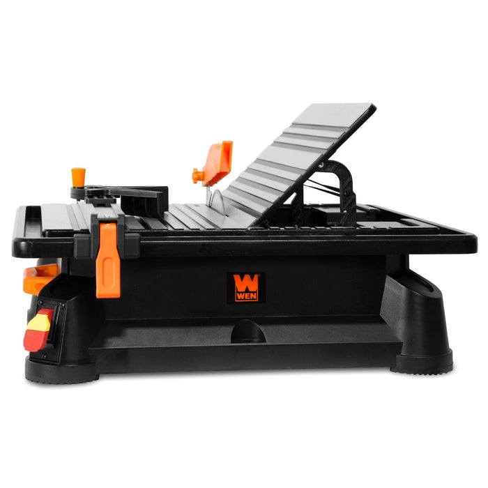 WEN 71707 6.5A 7-Inch Portable Wet Tile Saw with Fence and Miter Gauge