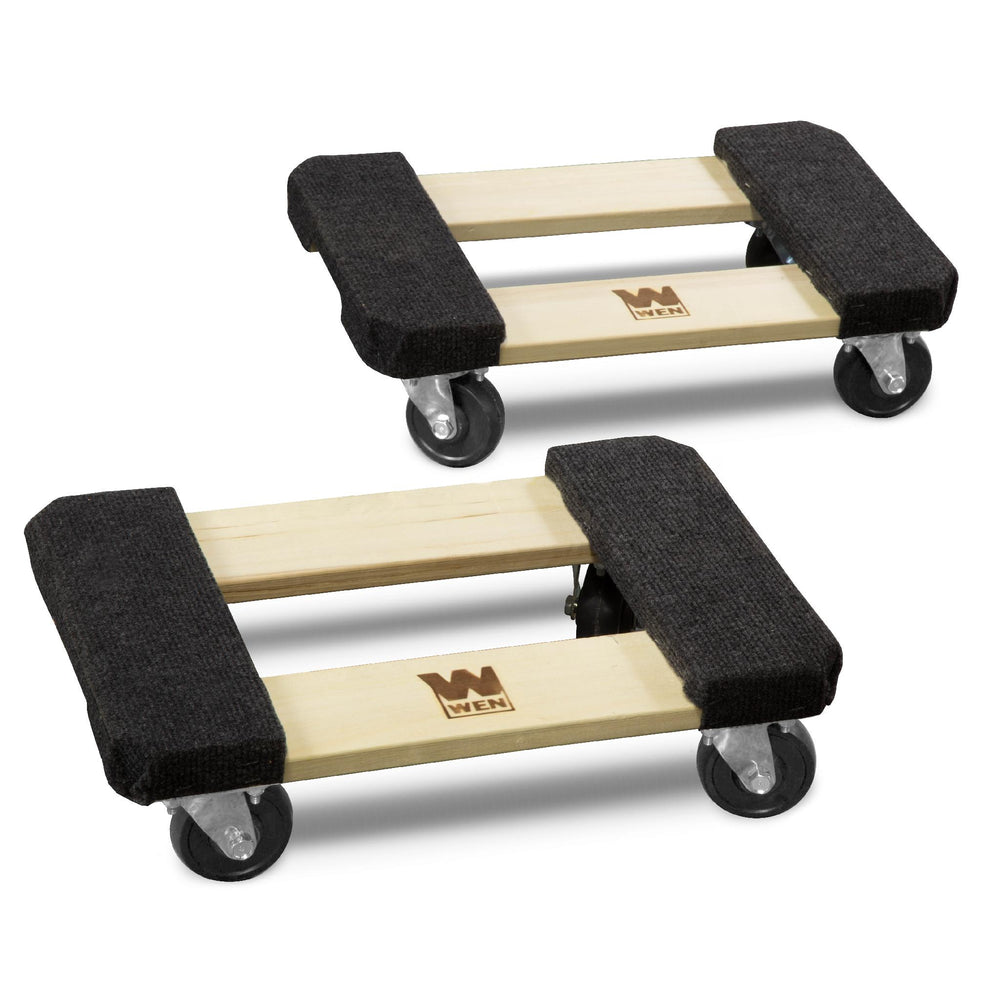 WEN 721218 1000-Pound Capacity 12-by-18-Inch Hardwood Mover's Dolly, 2-Pack