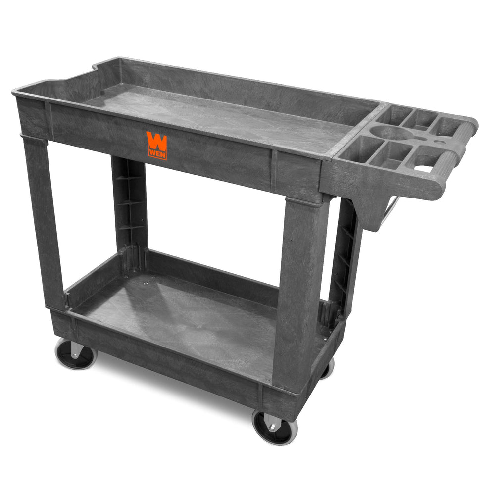 WEN 73009 500-Pound Capacity 40 by 17-Inch Two-Shelf Service Utility Cart