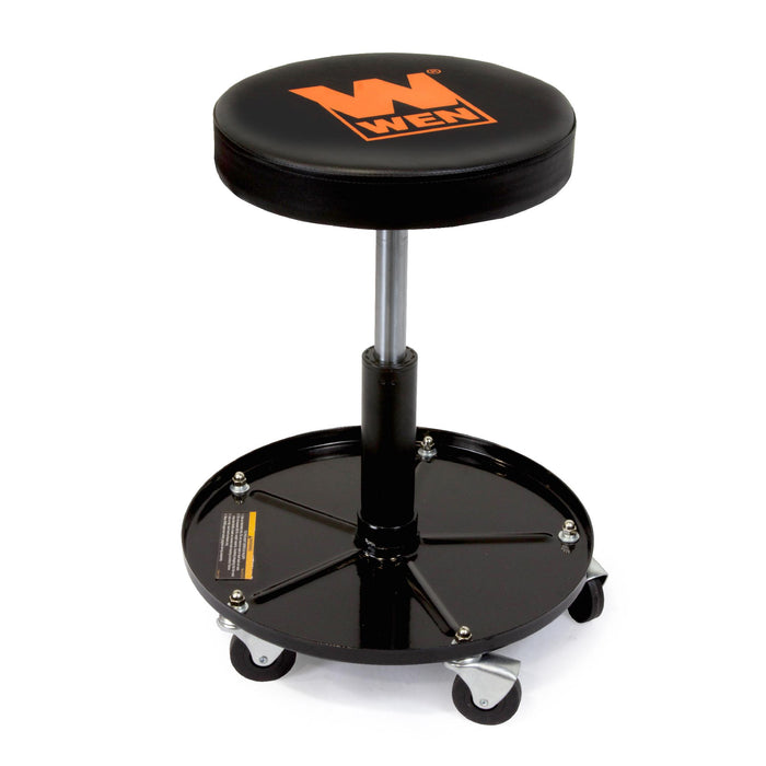 WEN 73012 300-Pound Capacity Pneumatic Rolling Mechanic Stool