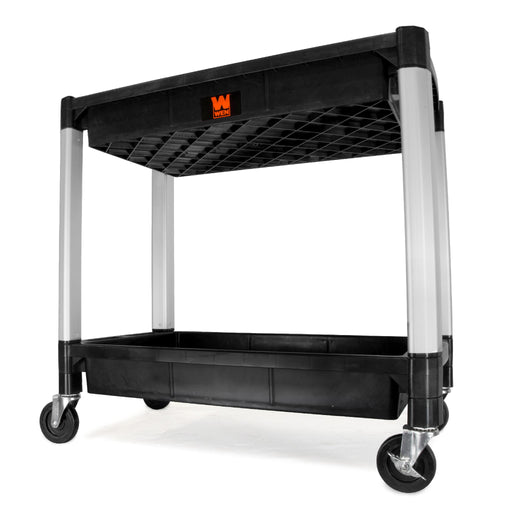 WEN 73162 Two-Tray 300-Pound Capacity Double Decker Service and Utility Cart