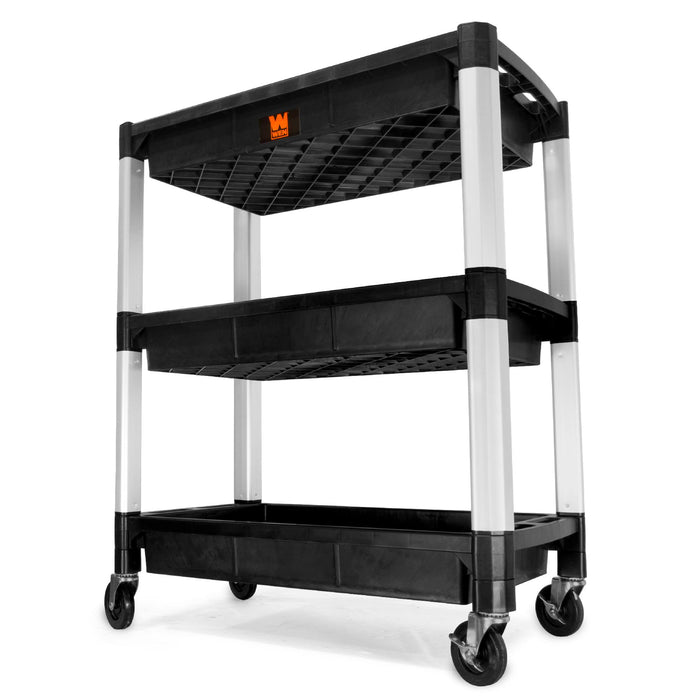 WEN 73163 Three-Tray 300-Pound Capacity Triple Decker Service and Utility Cart
