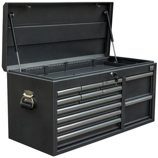 WEN 74512 41-Inch Silver 12-Drawer Tool Chest