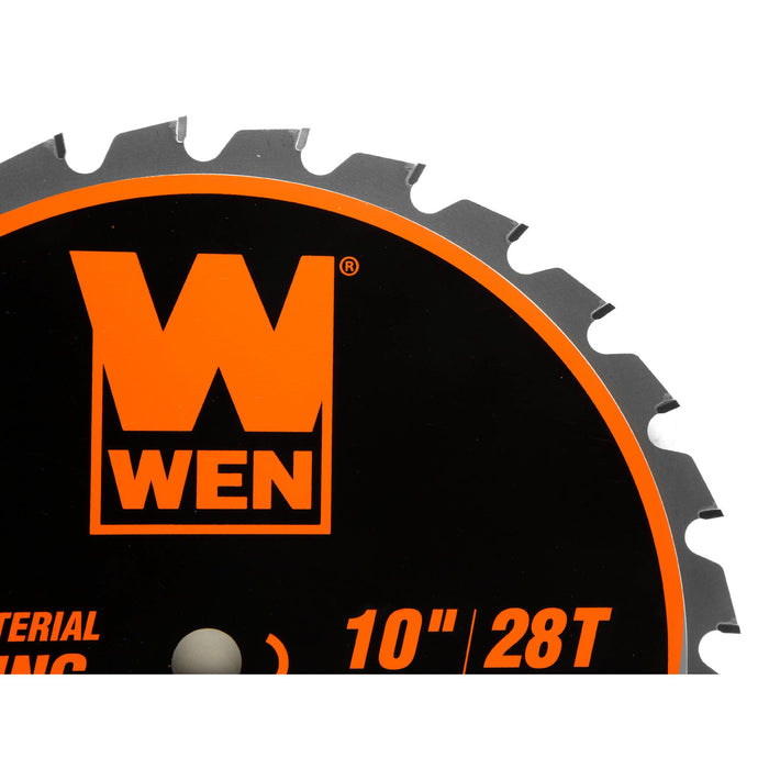 WEN BL1028 10-Inch 28-Tooth Carbide-Tipped Professional Multi-Material Framing Saw Blade