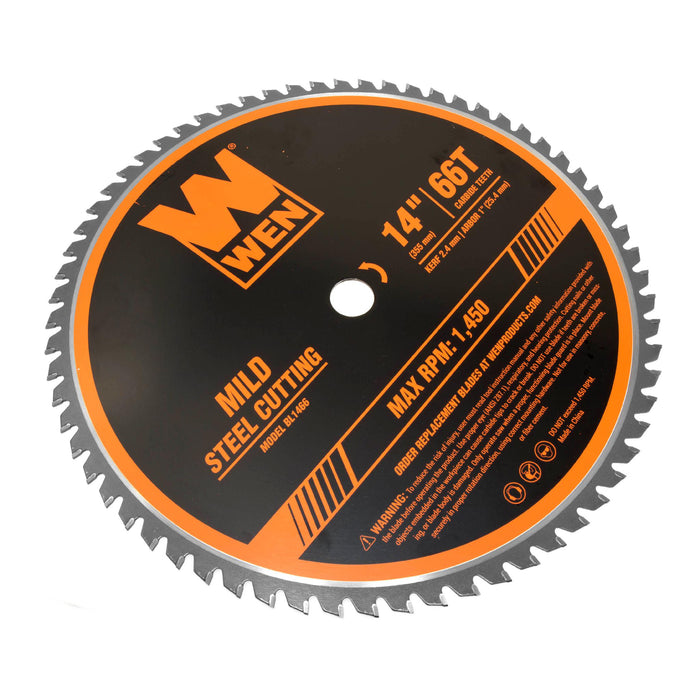 WEN BL1466 14-Inch 66-Tooth Carbide-Tipped Professional Metal Saw Blade for  Mild Steel Cutting