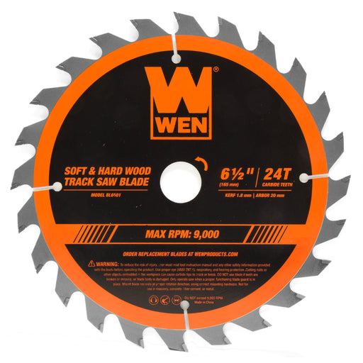 WEN BL6501 6.5-Inch 24-Tooth Carbide-Tipped Track Saw Blade