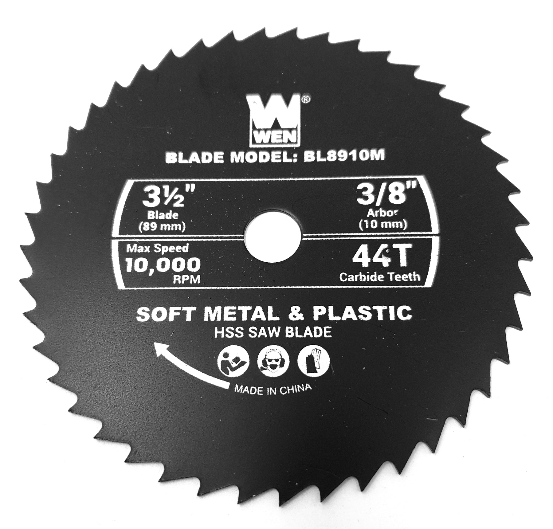 "[BL8910M] Saw Blade, Metal (44T) (3/8"" Arbor) for WEN 3620"