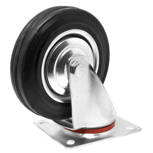WEN CA5336W 6-Inch 330-Pound Capacity Roller-Bearing Rubber Swivel Plate Caster